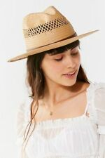 NWT Urban Outfitters Brixton Case Straw Fedora Hat Sz. Medium