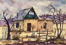 Country Casita by Lillian Benjamin - Original Watercolor, Mattedc.1970