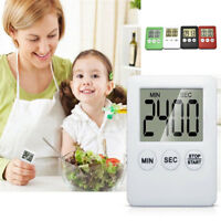 Large LCD Digital Kitchen Cooking Timer Count-Down Up Clock Alarm Magnetic new U