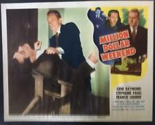 Gene Raymond with the blackmailer Million Dollar Weekend 1948 lobby card 3156