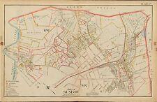 1906 SUMMIT UNION NEW JERSEY PS 20 PASSAIC RIVER - SPRINGFIELD AV ATLAS MAP