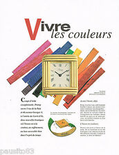 PUBLICITE ADVERTISING 075  1993   POIRAY  montre à bracelet interchangeable