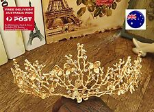 Women Girl Gold Leaf Wedding Bride Party Hair Headband Head Crown Tiara Prop
