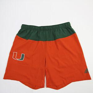 Miami Hurricanes adidas Climalite Athletic Shorts Men's Orange/Green Used