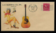 1941 Martin D-18 & Pin Up Girl Featured on Collector's Envelope *OP436