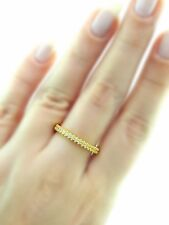 Turkish Handmade Jewelry 18k Gold 925 Sterling Silver Stackable Ring Size 7
