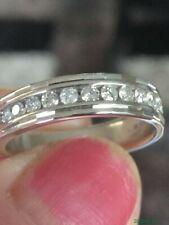 Hallmarked 18ct White Gold 0.25 Diamond Eternity Ring. Size J