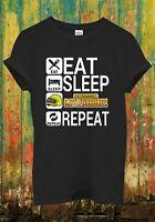 Eat Sleep PUBG Repeat Battle Game Funny Cool Men Women Top Unisex T Shirt 2097