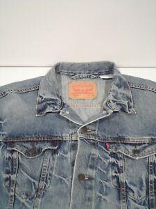 Levi's Men's Trucker Jacket Size 2XL Light Wash Distressed Denim Top 723340139