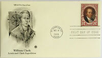 50 USPS PCS William Clark 2004 37c Stamp FDC Cover 3856 First Day Issue NEW
