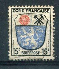 ALLEMAGNE Occupation Fr., timbre 7 Armoiries oblitéré