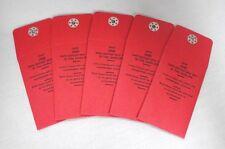 MMF Safe Deposit Envelope Snap Close Red Lot Set of 5 Key Vault 270029407 New