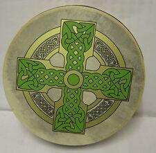 """IRELAND Irish MUSIC 8"""" Cloghan Cross Bodhran Drum Beater 2 Items"""