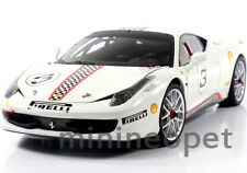 HOT WHEELS ELITE X5487 FERRARI 458 CHALLENGE 1/18 DIECAST #3 WHITE