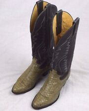 Justin Style 4663 Authentic Snake Skin Leather Western Boots Women's Size 5 B