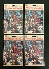 Vintage Lot of 4 Michael Jordan Basketball Poster Stickers Chicago Bulls