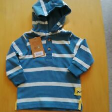 Kite kids hooded long sleeve top age 3/6 months in organic 100% cotton