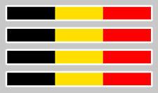 4 X BANDES DRAPEAU BELGIQUE 11cmX1,1cm AUTOCOLLANT STICKER AUTO BA023