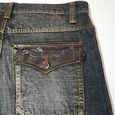 Men's Kani Gold Flap Pocket Dark Wash 55% Ramie 45% Cotton Size Jean 36 x 33 1/2