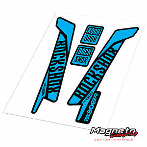 Rock Shox Boxxer 2016 Style - Reproduction Fork Decals