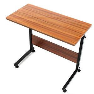 80x40cm Brown Mobile Adjustable Work Study Laptop Bed Bedside Desk Table Stand