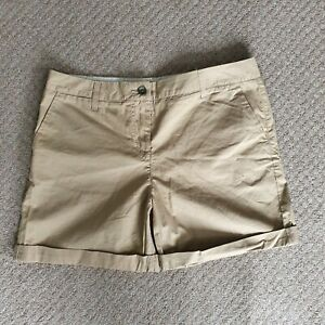 Next Beige Chino Shorts Size 12 Excellent Condition