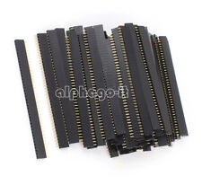 5Pcs  40pin 2.54mm Single Row Straight Female Header Strip PBC Arduino