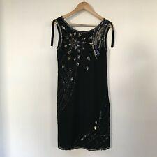 Matthew Williamson Womens Dress, Size 8, Pure Silk Black Beaded