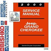 2000 Jeep Grand Cherokee Shop Service Repair Manual DVD Engine Drivetrain Wiring
