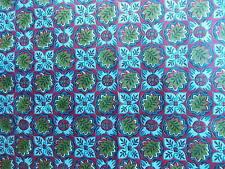 WTW Fabric Vintage Retro Floral Flower Garden Leaf  Nature Mod Folk BTY Quilt
