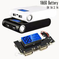 Dual USB 5 V 1A 2.1A Mobile Energienbank 18650 Ladegerät PCB Modul Bord DE