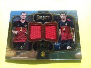 Panini Soccer Select 17-18 Dual Patch VERMALEN & JAN VERTONGHEN Belgium