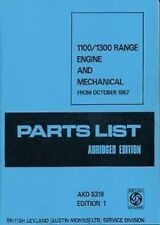 Austin Car Parts Catalogues