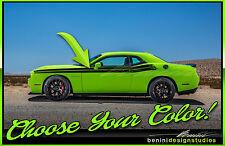 Split Stripes Fits 2009 2015 2020 Dodge Challenger Rt Srt Sxt Hellcat