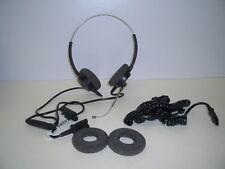 Plantronics P61-U10P Supra Polaris Binaural Voice Tube Headset for Avaya Toshiba