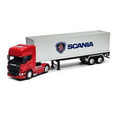 Welly 1:32 Die-cast Scania V8 R730 Tractor Trailer Container Truck Red Model Toy