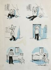 Leslie Starke New Yorker artist Original Cartoon Mexican published in Lilliput