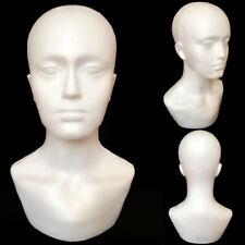 Foam Male Display Mannequin Head Dummy Wigs Hat Scarf Stand Model J6f7