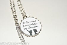 Personalised Necklace Pendant Quote Peter Pan, Tinkerbell, Disney Gift