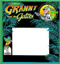 Bally Granny And The Gators Pinball Machine BACKGLASS