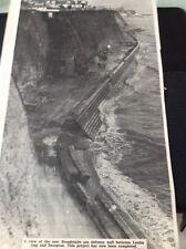 65-8 ephemera 1965 Picture Broadstairs New Sea Defence Wall Louisa Gap