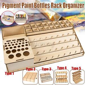 Wooden Pigment Bottle Drawer Storage Organizer  Ink Brush Stand Rack   A
