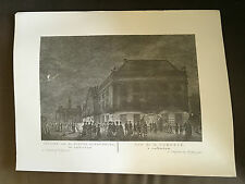 "**RARE** 18"" x 13.75"" P FOUQUET JUNIOR DUTCH ENGRAVING PRINT OF AMSTERDAM (11)"