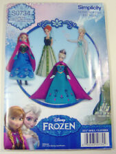 Simplicity Barbie Frozen Fashion Doll Sewing Patterns Official Disney Craft