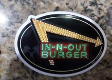 in n out burger sticker neon lights and crossed palm design..worldwide shipping
