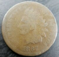 1867/67 Indian Head Cent Penny IHP FS-301 About Good AG