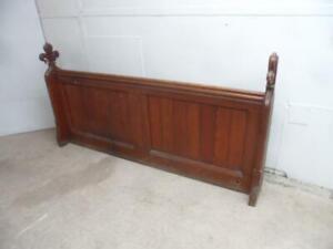 An Original Victorian Antique/Old Pine Church Room Divide / Kingsize Headboard