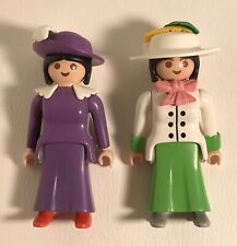 Playmobil Victorian Dollhouse Market or Train Station Traveling Ladies Figures