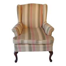 Wing Back Petit Chair French Country Stripe Slip Cover
