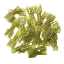 50pcs Yellow Female & Male Insulated Wire Terminals Connectors 12-10 AWG Gauge